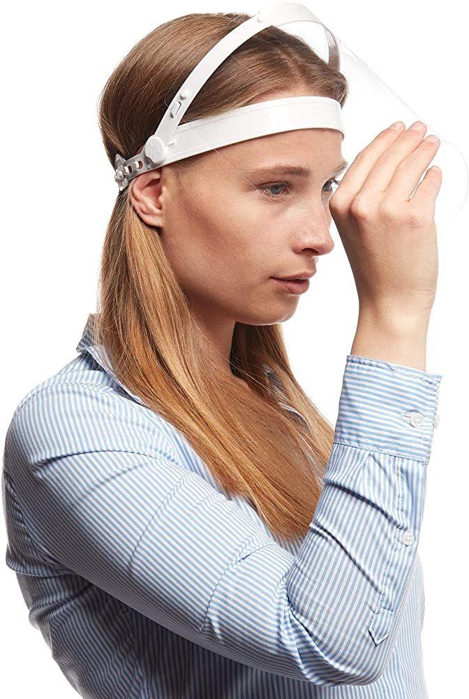 Gesichtsschutz Schutzvisier Visier Schutzmaske 1 Halterungen mit 2 Wechselfolien