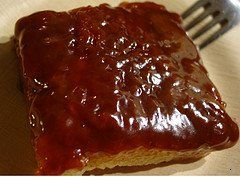Biko!  Rice cake w/caramel topping.  Note:  do not make with long-grain brown rice... does not work well.
