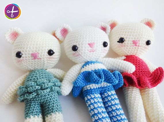 Custom Order  Miss Bear Amigurumi  Made to Order by HinaPalitah