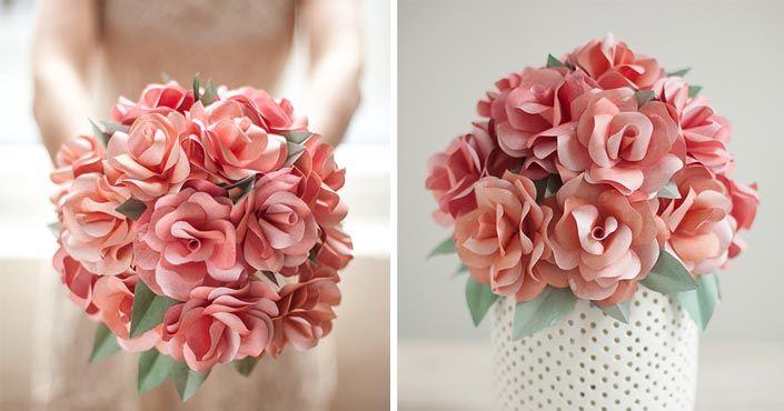 Pre nevestu vyrobila netradičnú svadobnú kyticu ruží - z papiera! Jej detailný návod vám ukáže, ako postupovať. Svadobná papierová kytica ruží