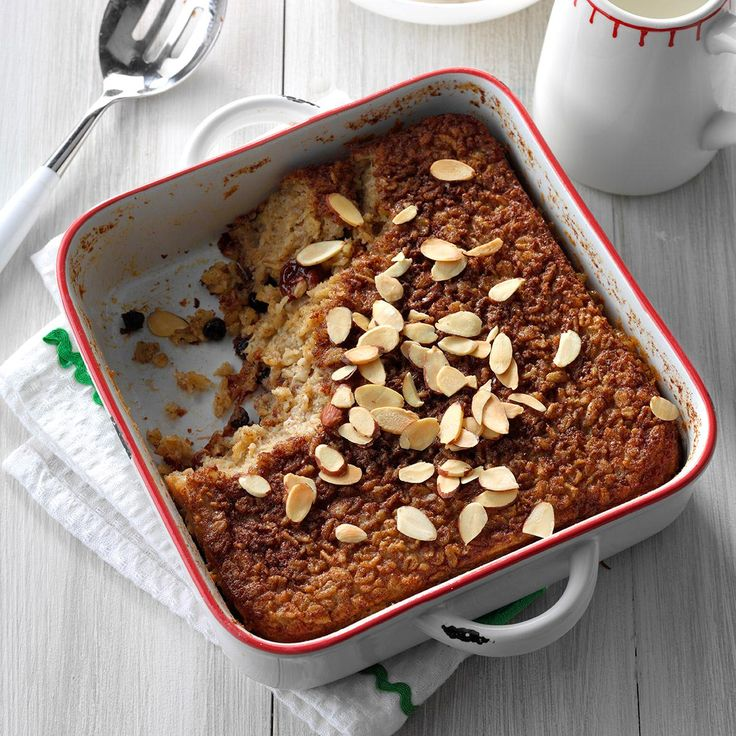 Overnight Baked Oatmeal Recipe -My husband and I spent a long weekend at a bed-and-breakfast not far from our home. The owners shared this delicious recipe with me, which I've made my own after a couple of simple changes.