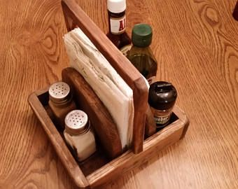 Napkin Holder with Handle/Salt and Pepper/Stake Se…