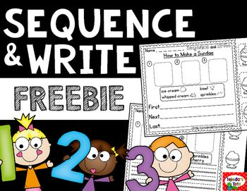 Kids can always use practice with sequencing! Use this activity to integrate sequencing with writing. Students glue the events in order, then write the steps. No-Prep: Simply copy and use.
