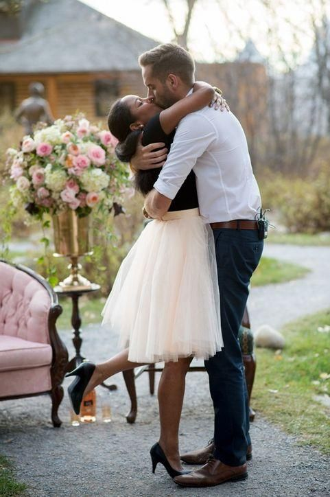 We love, love, love this sweet engagement story - come read the details and see all the pictures!