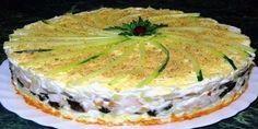Салат, который подается в виде торта займет самое главное место на праздничном столе! Такого вкусног...