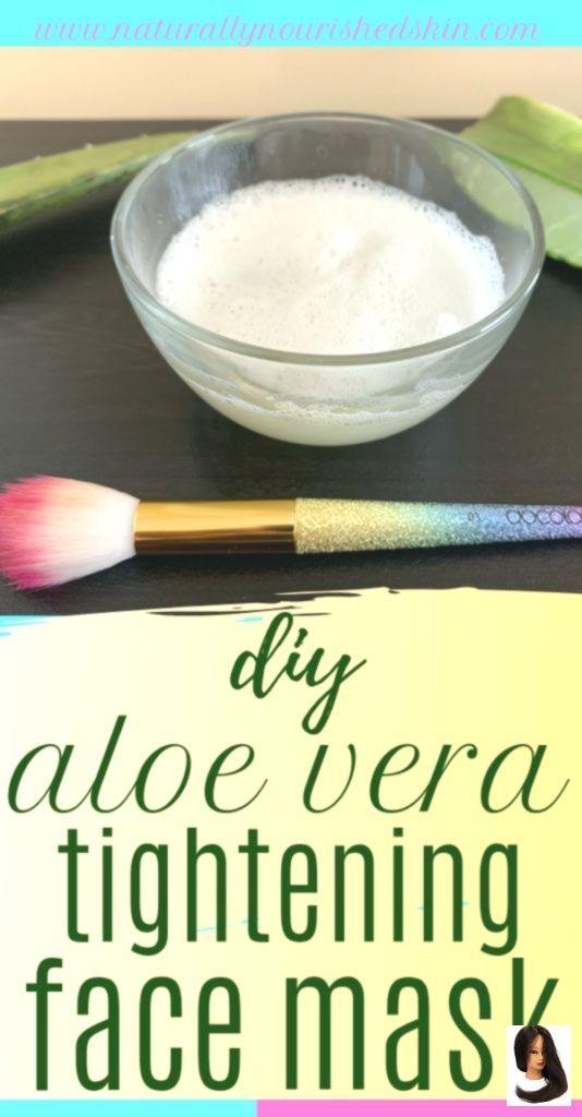 DIY Aloe Vera Firming Face Mask  -  Hautpflege-Rezepte