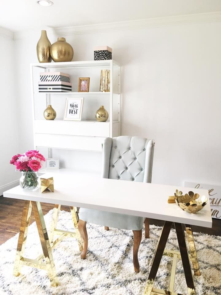 Creating A New Office Space Removed My Formal Living Room From The House Officechair Feminine Home Offices Home Office Decor Home Office Design #office #and #living #room