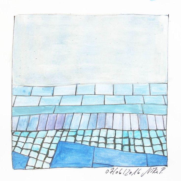 Moin moin! Gestern tatsächlich noch gekritzelt / getuscht. #kritzelnzwosechzehn #kritzeln #sketchbook #watercolors