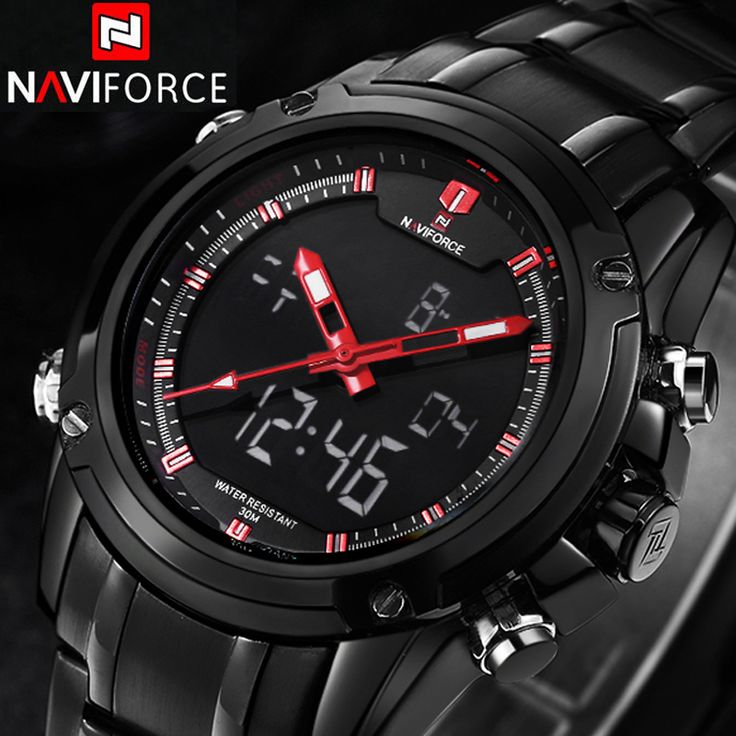 NAVIFORCE Sport Clock Men's Quartz Wrist Watch Military Watch For Men Full Steel Men Watch Relogio masculino Reloj Hombre 2016 #>=#>=#>=#>=#> Click on the pin to check out discount price, color, size, shipping, etc. Save and like it!