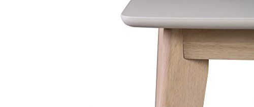 Miliboo - Tavolo da pranzo design design allungabile 150 cm 50 cm bianco e legno chiaro LEENA
