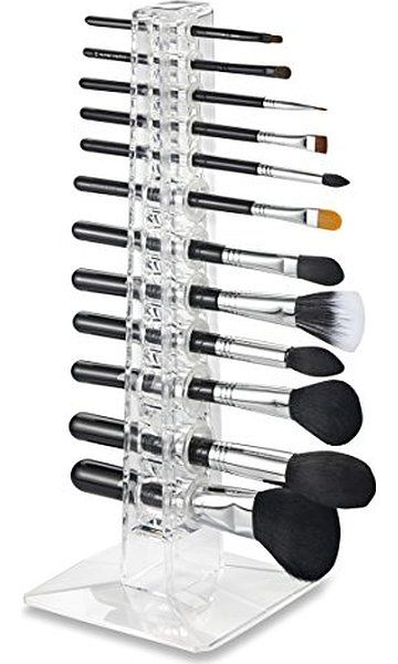 Acrylic Brush Organizer & Beauty Care Holder Contains 12 Space Storage | byAlegory (Clear) Makeup Organizer