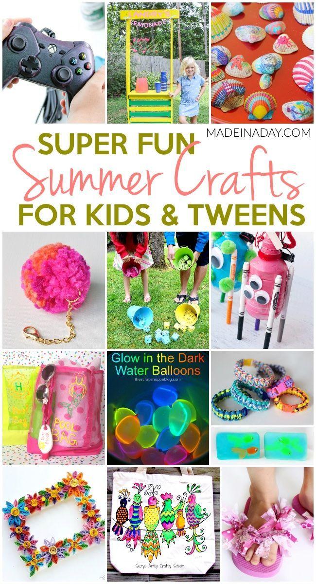 Super Fun Summer Crafts For Tweens Kids Diy Crafts For Tweens