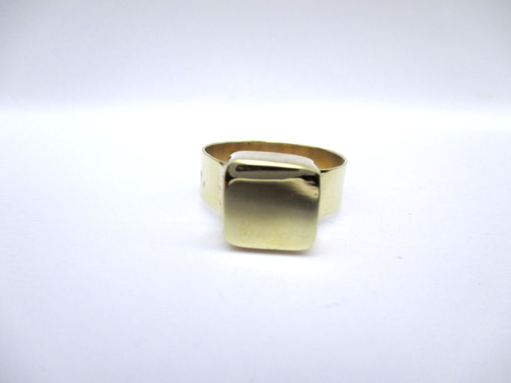 Brass Cube Ring by Picossa on Etsy