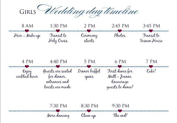 How To Create The Perfect Reception Timeline: 「結婚式のタイムラインテンプレート」のおすすめアイデア 25 件以上