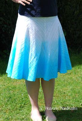 Heavenly Handmades: DIY Dip Dyed / Ombre Skirt