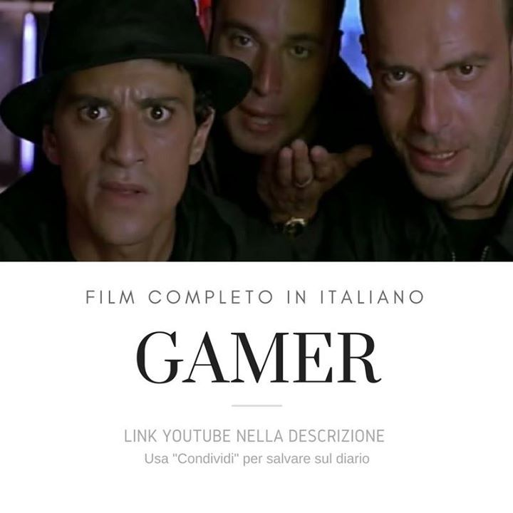 Gamer [Film Completo]: https://www.youtube.com/watch?v=ZAib4lWj4RI&list=PLXaYyxQb69ea3Pey-WsqT1_cT_QxLxahU #Film #FilmCompleti #Documentari