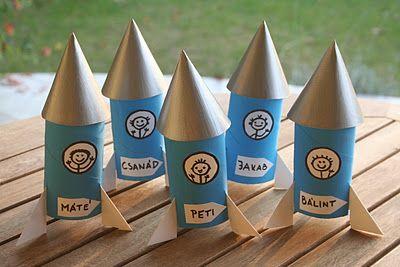 DIY CRAFT ** Toilet paper rolls **  party toilet roll rockets