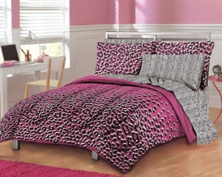 pink leopard print bedding this would satisfy my pink leopard print fetish d