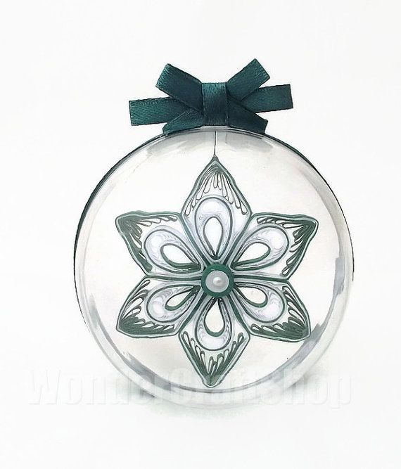 paper snowflake christmas ball hanging ornament by WonderCraftShop