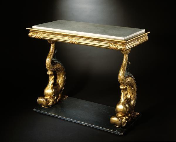 Империя, консоль, столик, Стокгольм, густавианском, шведский, дельфины, столик, обеденный стол, сервировочный столик, тумбочка, центральный стол, консоль стол, карточный стол, игровой стол, журнальный столик
