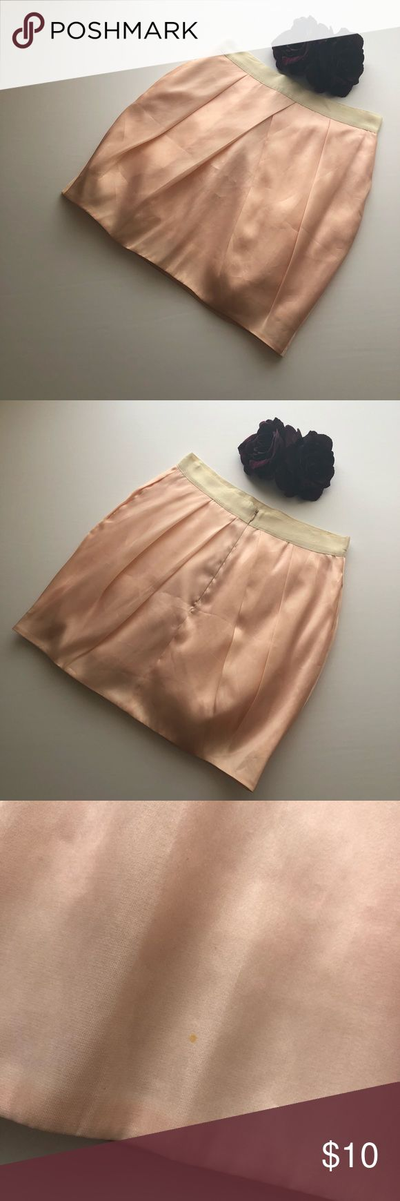 Peach Tulip Skirt Re-posh. Beautiful peach/ pale pink skirt that I bought off Posh a couple months ago. Never worn by me. There are some slight flaws as pictured. There is no label inside besides the size tag. Sold to me as Jcrew. Skirts