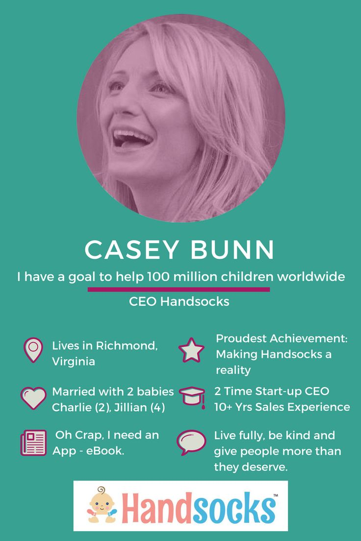 Meet the lively Casey Bunn, CEO Handsocks