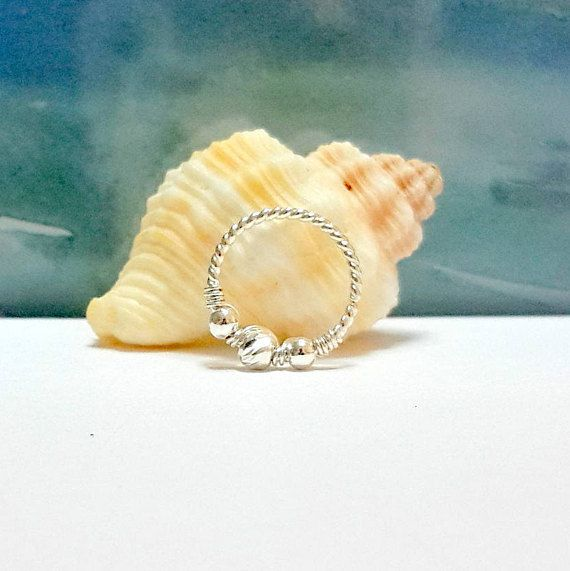 <b>925 Sterling silver beads</b> twisted conch hoop,conch earring, conch ...