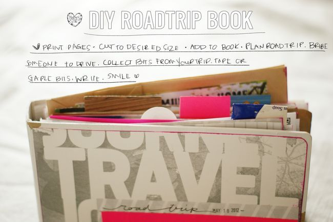 DIY -- Road Trip Journal -- Road Trip Themed Printables & Ideas of What To Bring On The Road With You