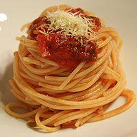 Spaghetti met verse tomatensaus - Koken met Trendy Recepten