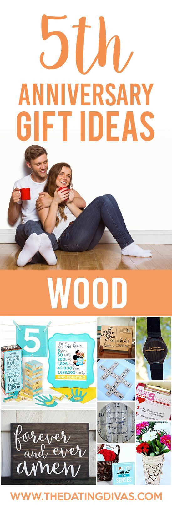 5th Anniversary Gift Ideas for your WOOD Anniversary!! Cute ideas!