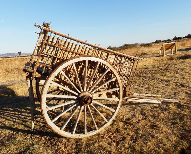 Carro de varas, tirado normalmente por una mula, servia para trasportar productos del campo