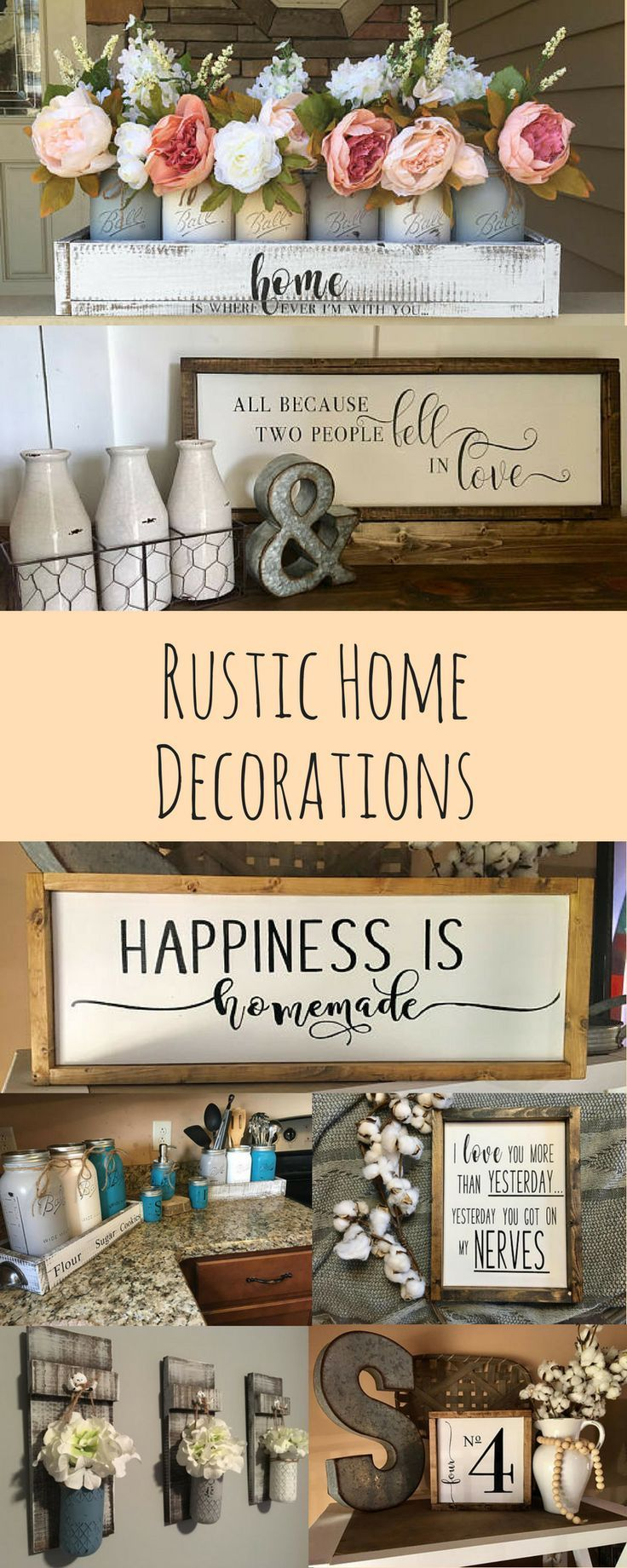 Rustic Home Decor, Farmhouse decorations, country style, afflink
