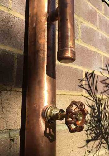 Tama Outdoor Copper Shower with Torrington Tap #outdoorshowers
