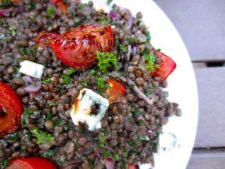 Castelluccio Lentils With Tomatoes And Gorgonzola Recipe — Dishmaps