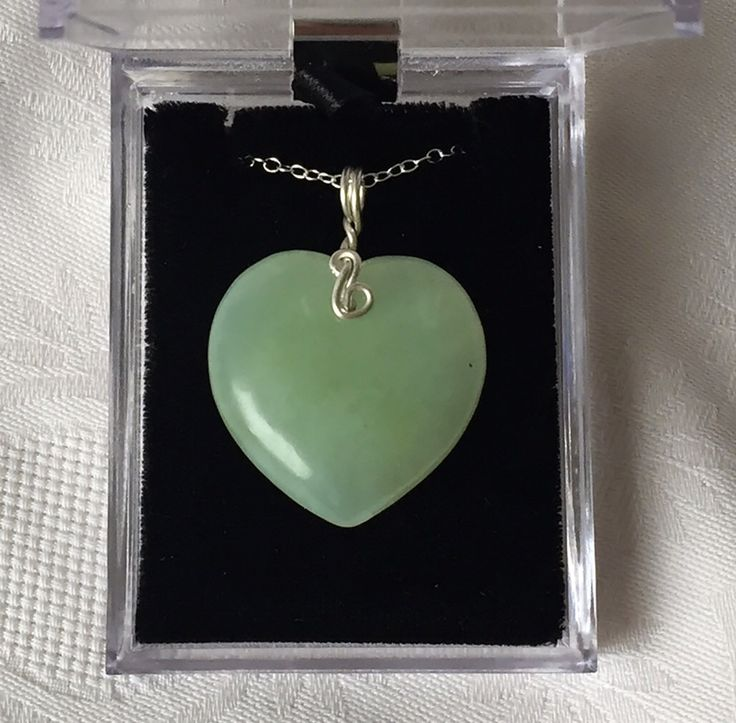 New Jade Crystal Heart Necklace ~ Goddess of Nature Starlight Essence by StarStoneCrystals on Etsy