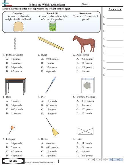 weight worksheets measurement 6th grade pinterest weights and worksheets. Black Bedroom Furniture Sets. Home Design Ideas