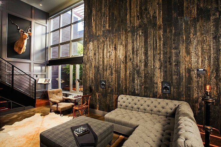 Industrial Retro Interior Design. If I was an interior designer like I'm hoping to be. This would definitely be something I'd do. This is wonderful!