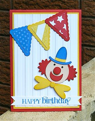 Stampin' Up!  Punch Art Clown  Kerry Bunting