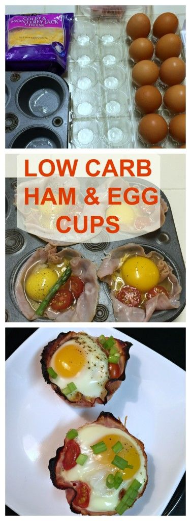 Low Carb Ham and Egg Cups