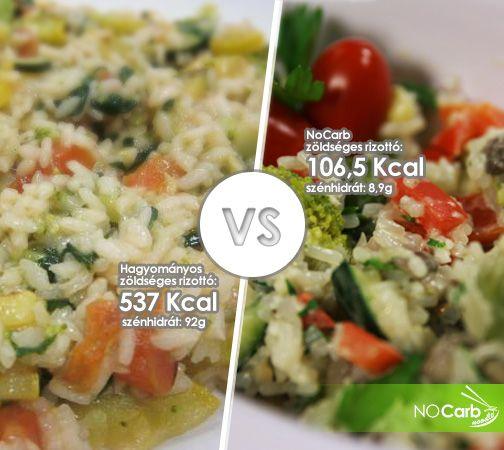 Hagyományos zöldséges rizottó VS NoCarb zöldséges rizottó | NoCarb rizottó recept: http://youtu.be/MBC04IxTB9Y