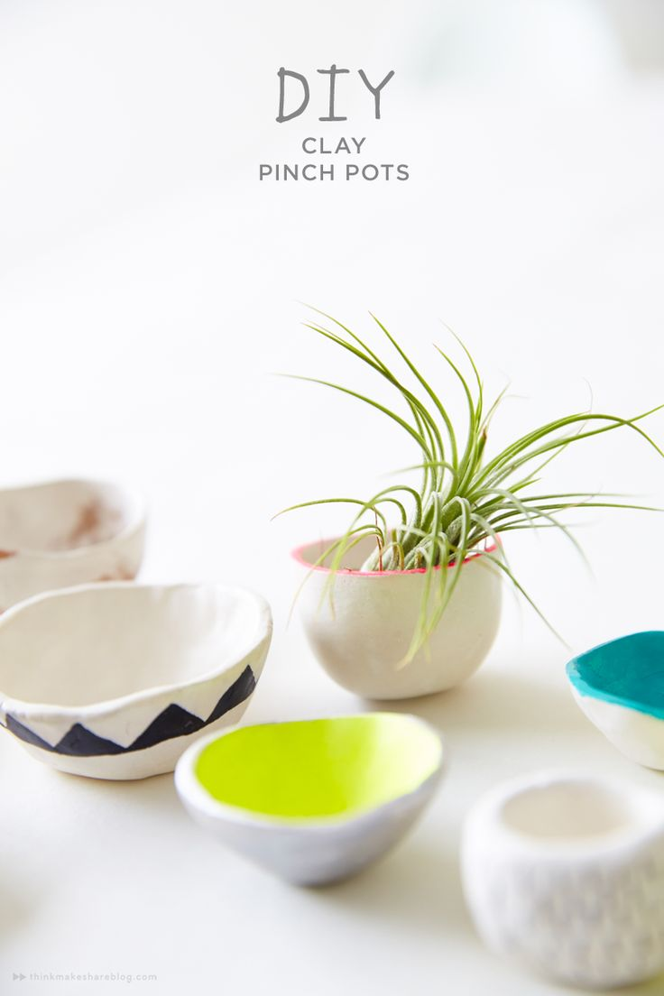 Think.Make.Share contributor Melissa shows us how to make these easy--and trendy--clay pinch pots. (A blog from the Creative Studios at Hallmark.)