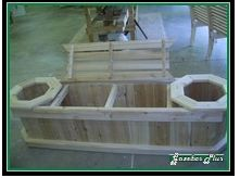 planter bench with storage to cover septic tank
