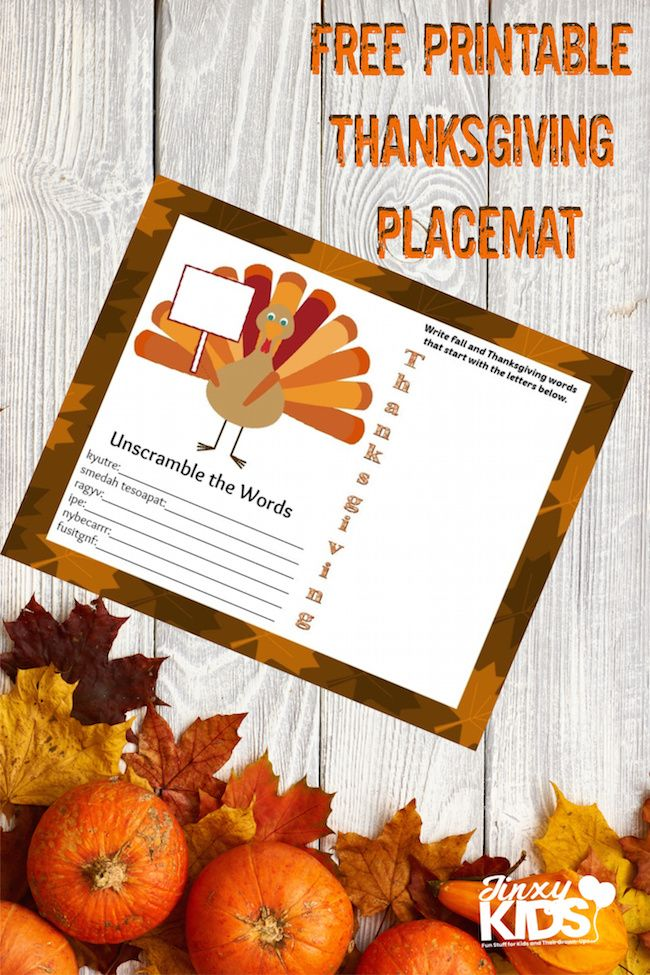 This Free Printable Thanksgiving Placemat With Activities Features A Place To Write A Chil Thanksgiving Placemats Thanksgiving Printables Thanksgiving Projects
