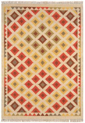 Debenhams Woollen 'Traditional Diamond Kelim' rug   Debenhams