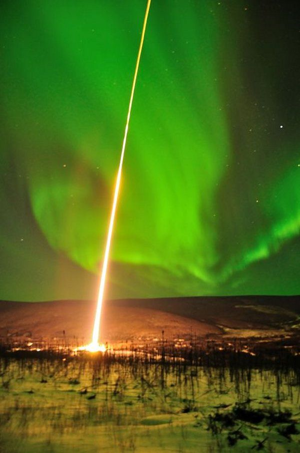 NASA launched a rocket into the Aurora