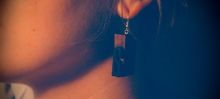 LKBK / 3 — Brzydko  #brzydko #earrings #letterpress #jewelry