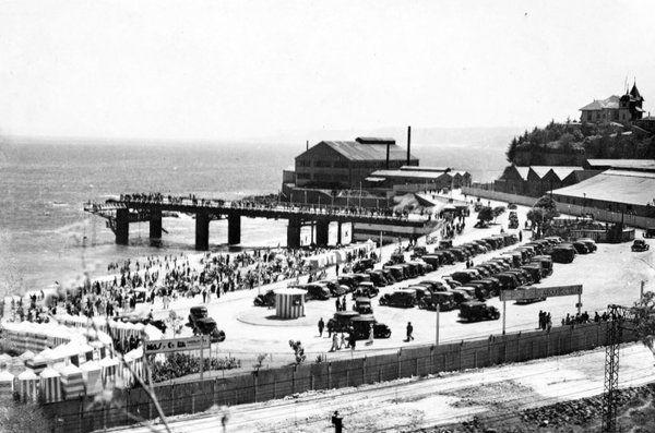 Vista de Caleta Abarca de Viña del Mar en 1939.