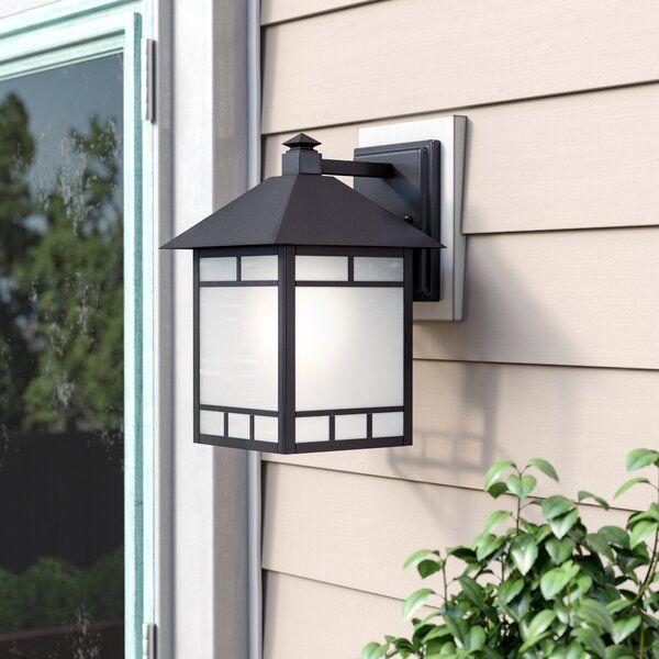 Oralia Stone Black 1 Bulb Outdoor Wall Lantern Wall Lantern Outdoor Walls Outdoor Wall Lantern
