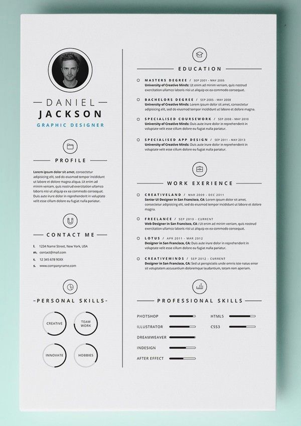 Cv Template Keynote In 2020 Resume Design Creative Free Resume