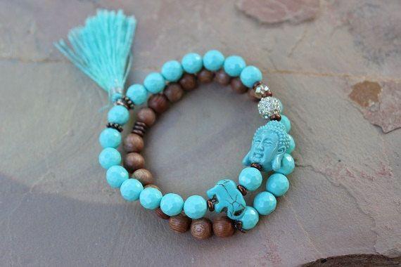 Chakra Bracelet Set Buddha Elephant Shamballa Mala Zen Gift by gotchakra on Etsy